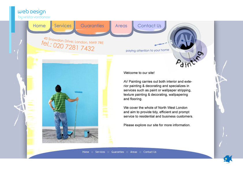 website design for AV Painting & Decorating
