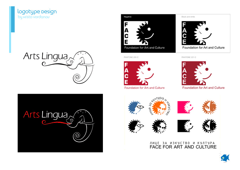 logotype design of Arts Lingua & Face