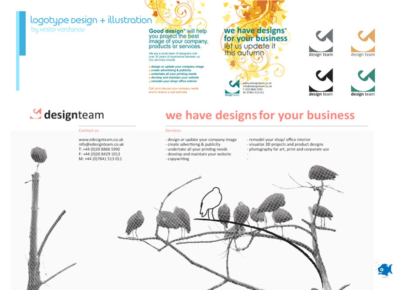 logotype design and illustration for edesign team
