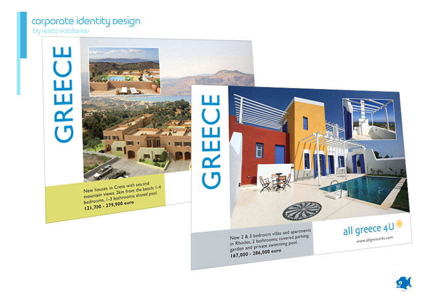 corporate identity design of posters for All Greece 4U