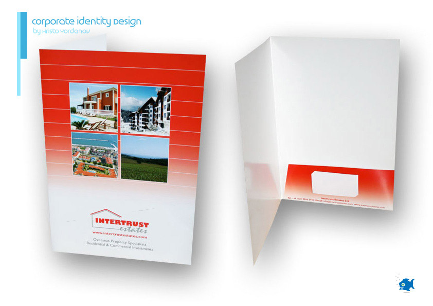 corporate identity design of a folder for Intertrust Estates